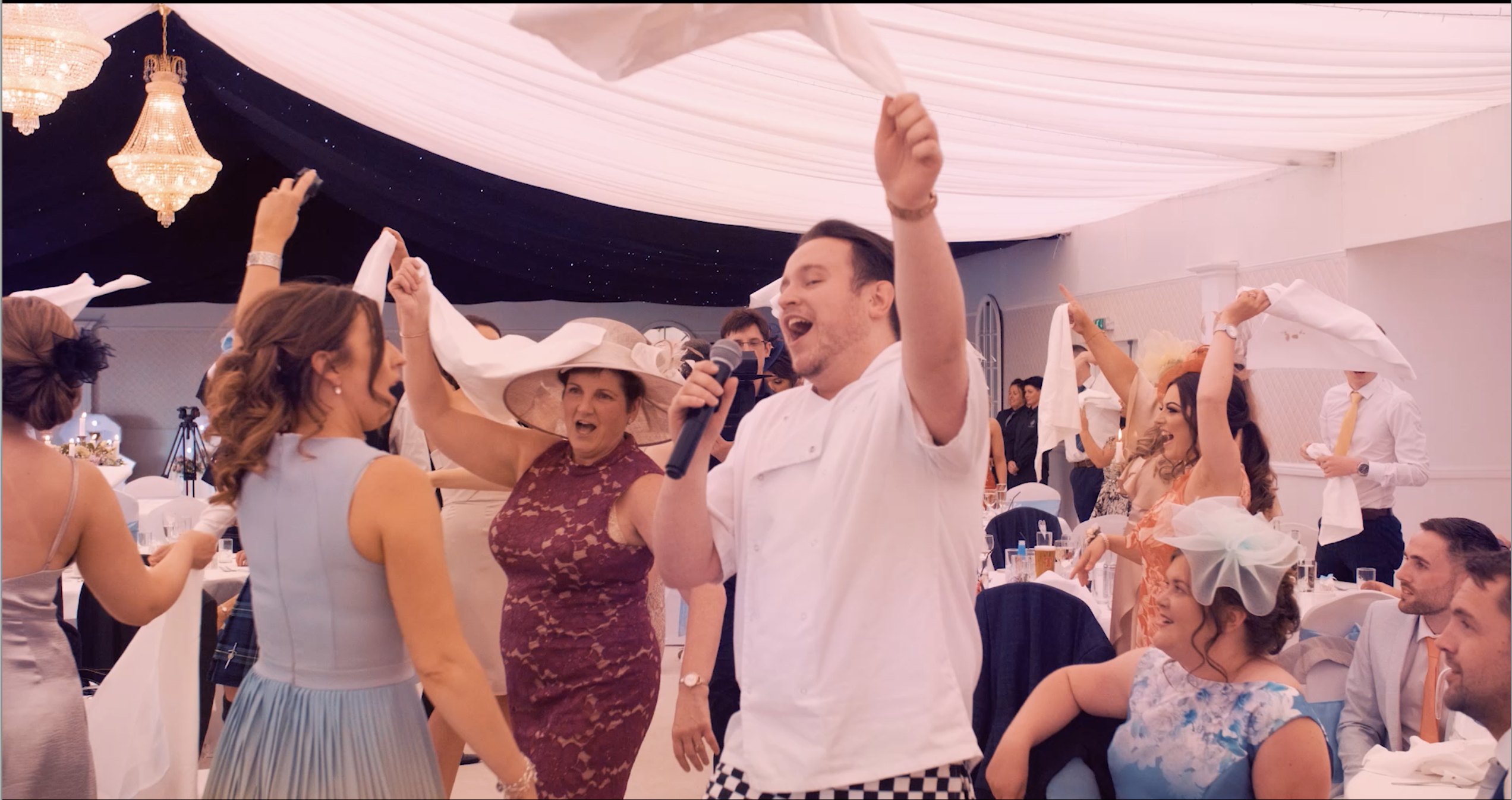 Get the party started with our group of singing waiters!